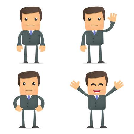 insurer: funny cartoon businessman