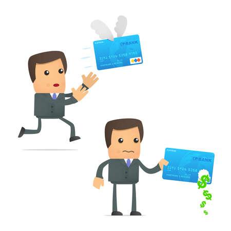 empresario triste: problemas con tarjeta de cr�dito