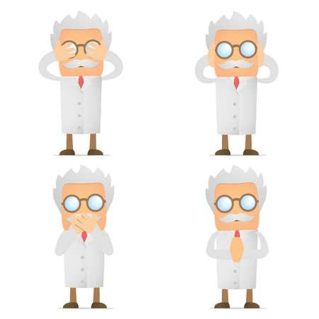 scientist man: Blind Deaf Mute