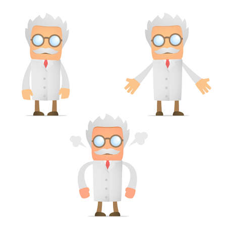 scientists: funny cartoon scientist angry and frustrated