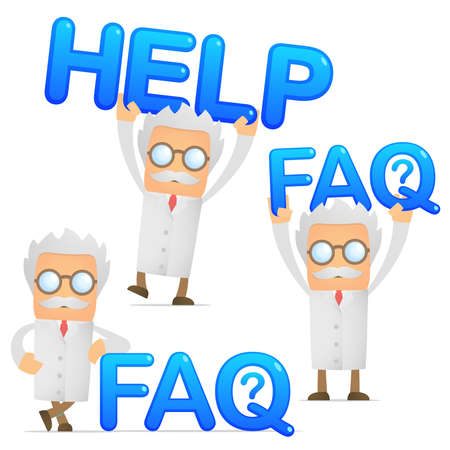 faq icon: cient�fico proporciona apoyo y asistencia Vectores