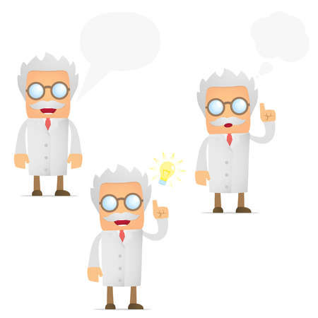 lab coats: funny cartoon scientist Illustration