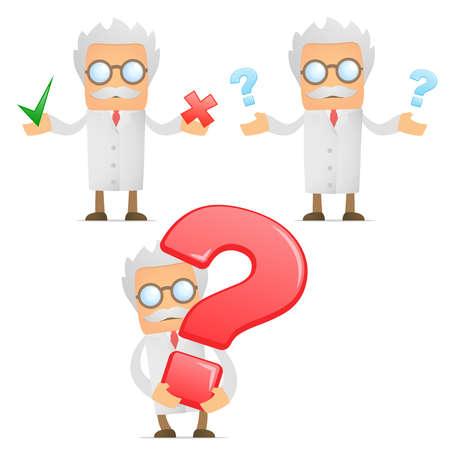 cientificos: cient�fico de dibujos animados divertidos con un signo de interrogaci�n