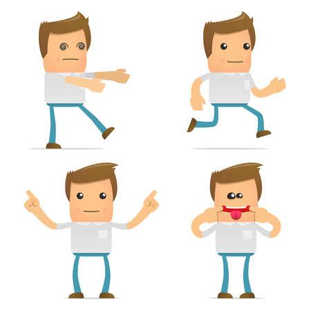 goof: set of funny cartoon casual man