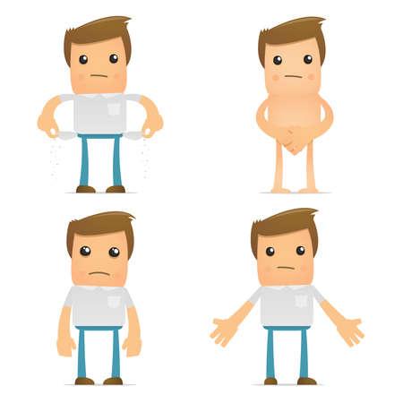 monotony: set of funny cartoon casual man