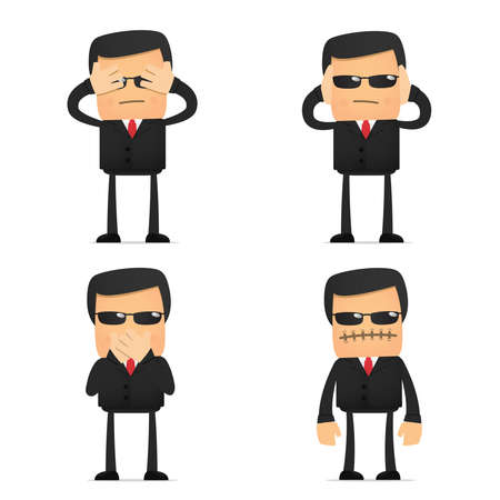 set of funny cartoon security Stock Vector - 10648939