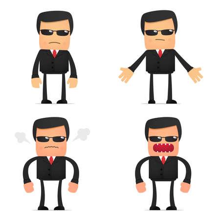 cranky: set of funny cartoon security