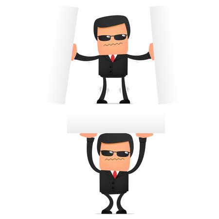 set of funny cartoon security Stock Vector - 10648872