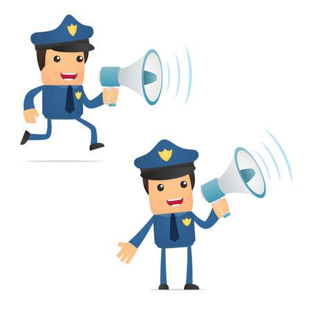 set of funny cartoon policeman Stock Vector - 10648926