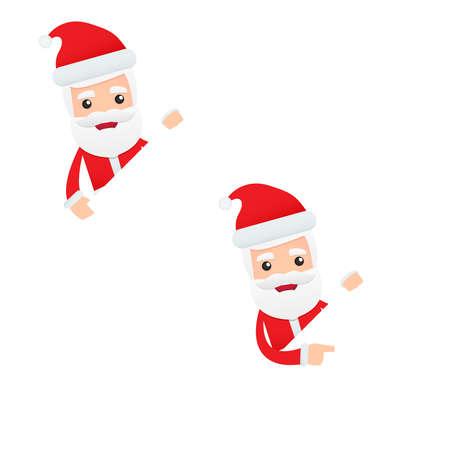 x stand: conjunto de dibujos animados divertido Santa Claus