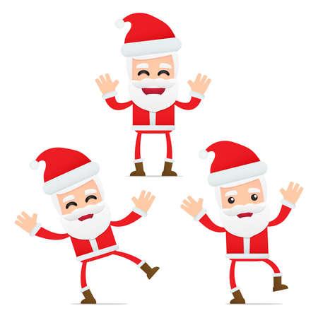 conjunto de dibujos animados divertido Santa Claus
