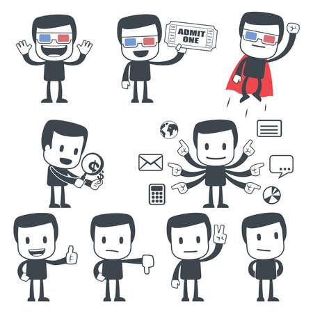 actitud positiva: Hombre de icono Vectores