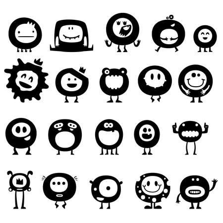 computadora caricatura: divertidos monstruos