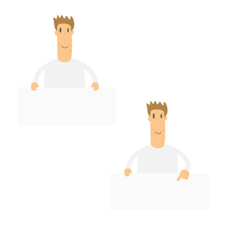set of funny cartoon casual man Stock Vector - 10899681