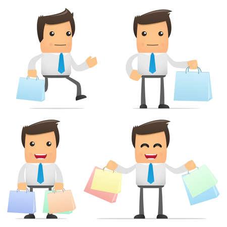 office products: conjunto de manager de dibujos animados divertidos