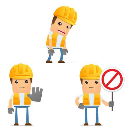 alerta: conjunto de generador de dibujos animados divertidos Vectores