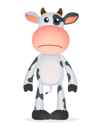 cranky: funny cartoon cow Illustration
