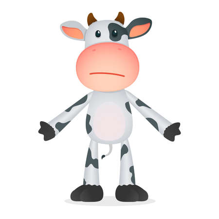 decepción: vaca divertidos dibujos animados