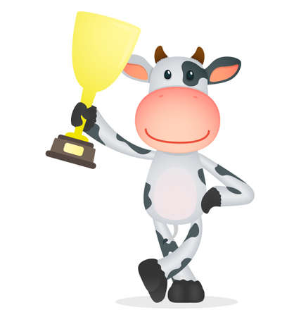 funny cartoon cow Ilustrace