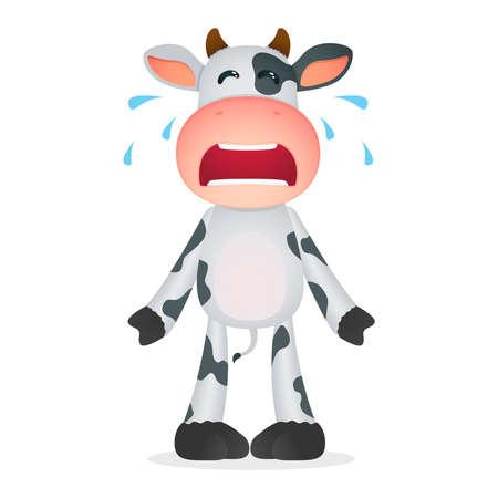 Vache drôle de bande dessinée Banque d'images - 11168758