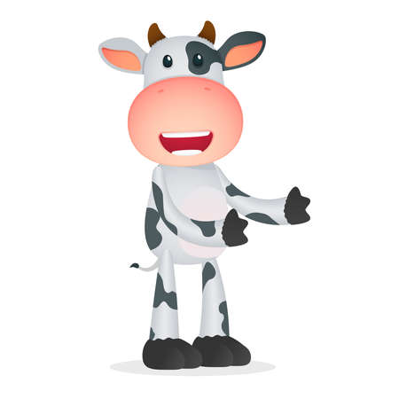 funny cartoon cow Stock Vector - 11168699