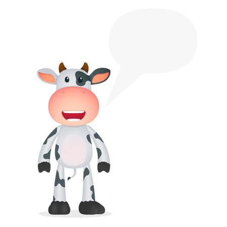 funny cartoon cow Vector