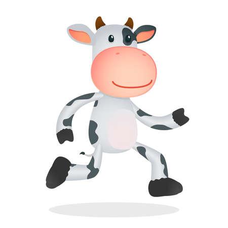 funny cartoon cow Stock Vector - 11168728