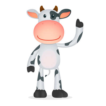 tutor: funny cartoon cow Illustration