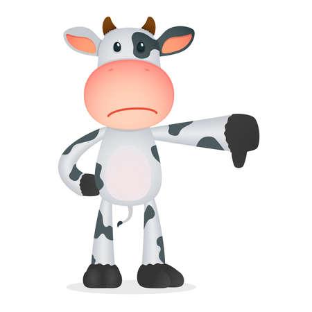 animal finger: funny cartoon cow Illustration