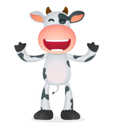 funny cartoon cow Stock Vector - 11168759