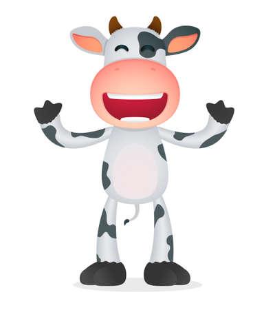 funny cartoon cow Stock Vector - 11168759