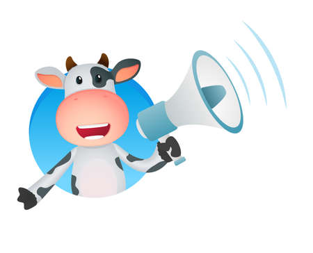 la vaca divertida caricatura