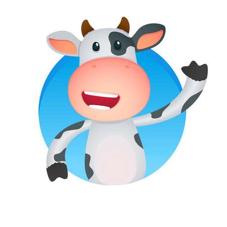 mani cartoon: mucca divertente cartone animato