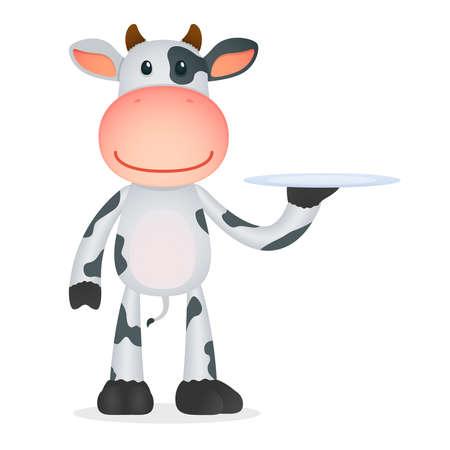 cows: funny cartoon cow Illustration