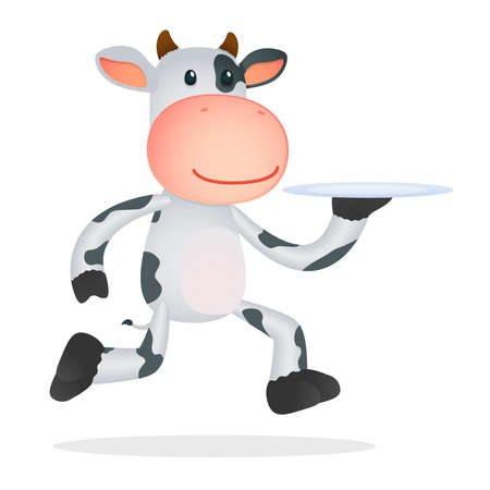 funny cartoon cow Stock Vector - 11168729