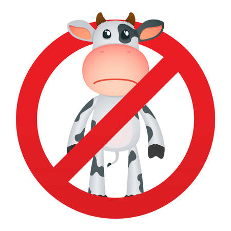 funny cartoon cow Stock Vector - 11250705
