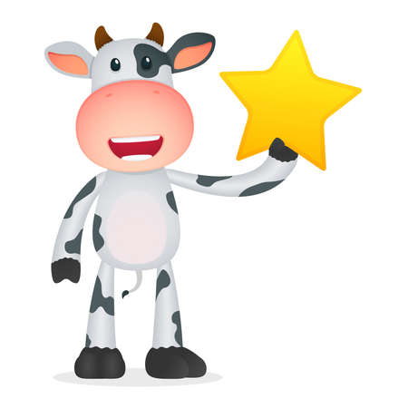 funny cartoon cow Stock Vector - 11250745