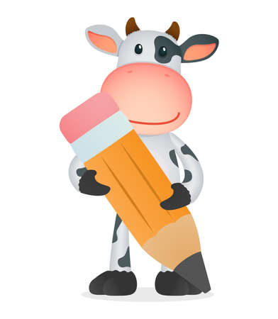 funny cartoon cow Stock Vector - 11250697