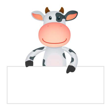 funny cartoon cow Stock Vector - 11250665