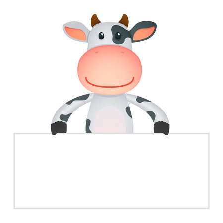 bovine: funny cartoon cow Illustration