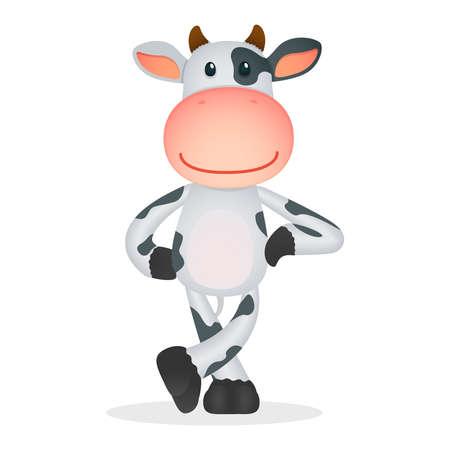 vaca caricatura: vaca divertidos dibujos animados