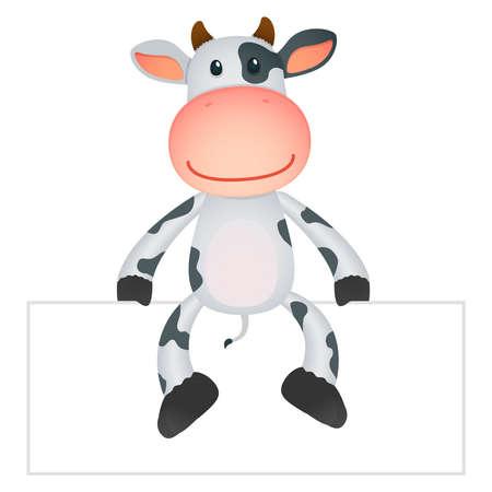 funny cartoon cow Stock Vector - 11250676
