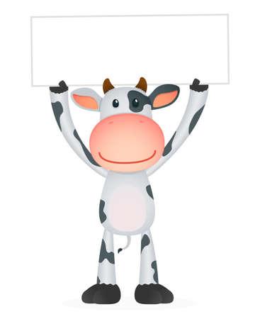 cow cartoon: funny cartoon cow Illustration