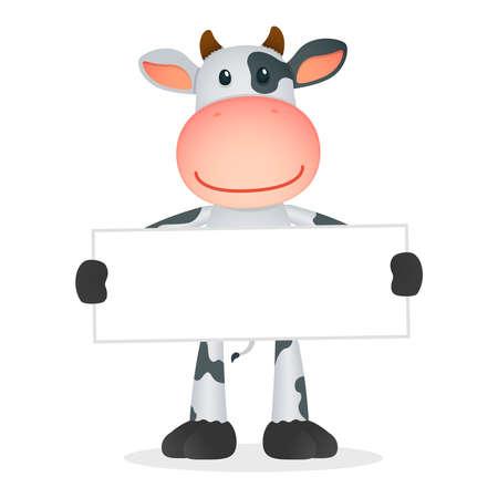 cattle: funny cartoon cow Illustration