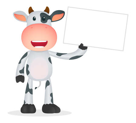 funny cartoon cow Stock Vector - 11250698