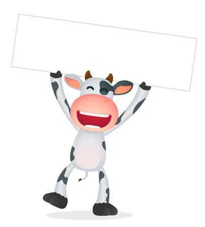 horned: la vaca divertida caricatura