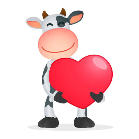 funny cartoon cow Stock Vector - 11250709