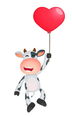 cartoon board: funny cartoon cow Illustration