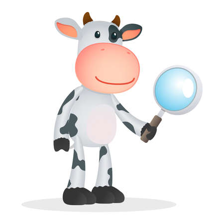 joke glasses: funny cartoon cow Illustration