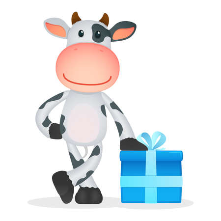 funny cartoon cow Stock Vector - 11250794